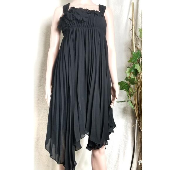 be4e68c3 Zara Dresses   Woman Black Pleated Asymmetrical Dress   Poshmark